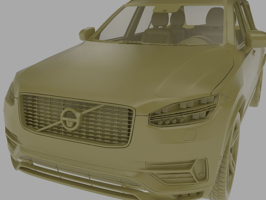 Volvo XC90 royalty-free 3d model - Preview no. 8