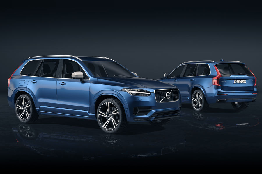 Volvo XC90 royalty-free 3d model - Preview no. 1