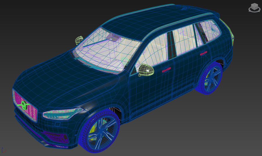Volvo XC90 royalty-free 3d model - Preview no. 10