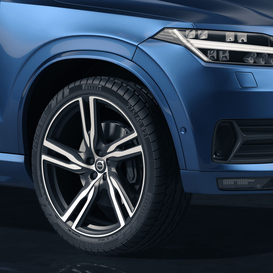 Volvo XC90 royalty-free 3d model - Preview no. 2