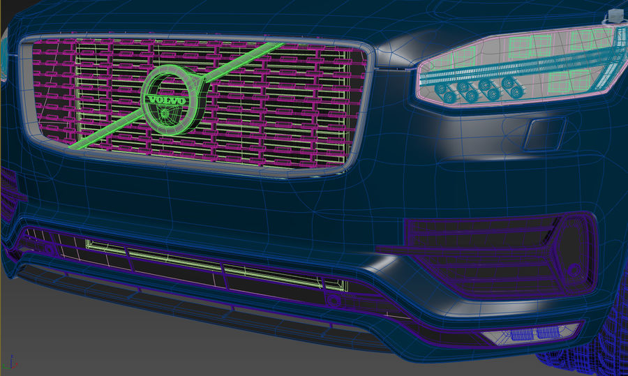 Volvo XC90 royalty-free 3d model - Preview no. 13