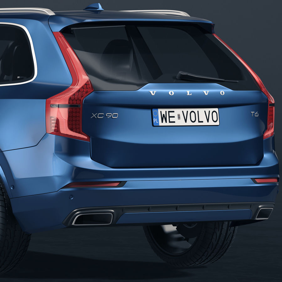 Volvo XC90 royalty-free 3d model - Preview no. 4