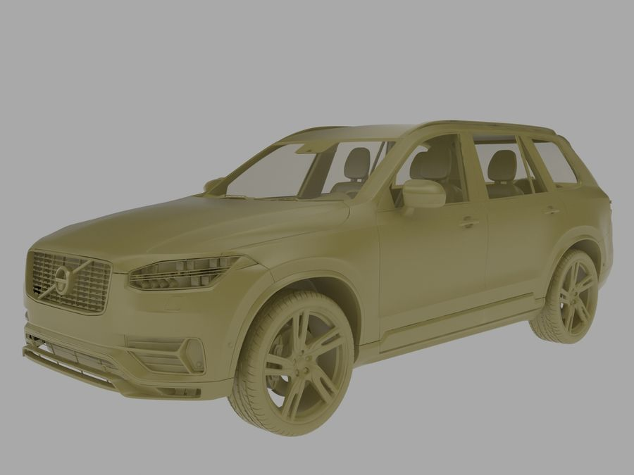 Volvo XC90 royalty-free 3d model - Preview no. 5
