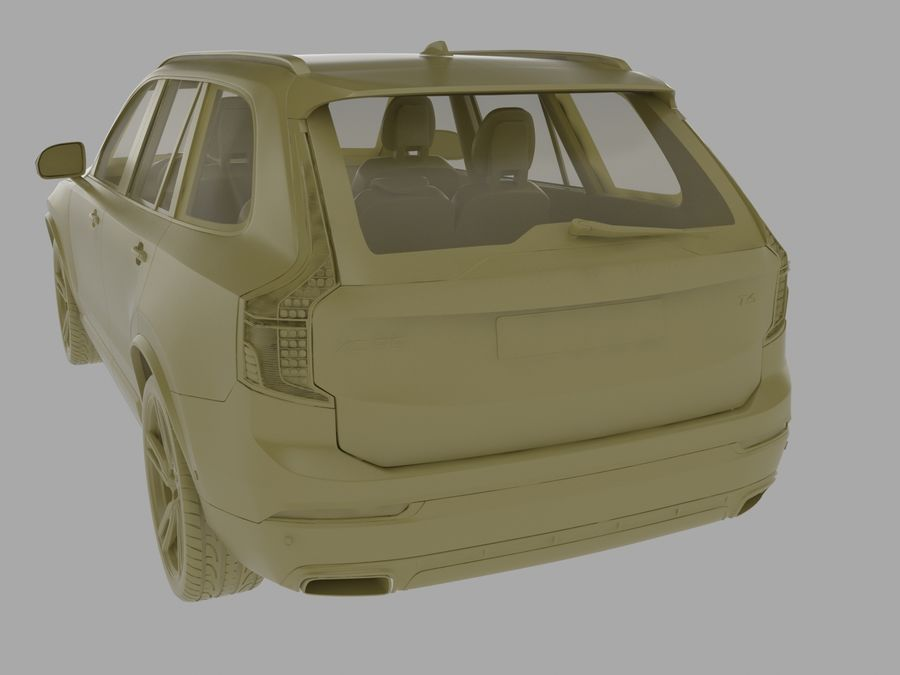 Volvo XC90 royalty-free 3d model - Preview no. 9