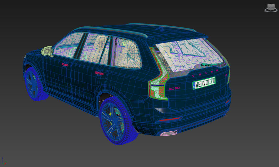 Volvo XC90 royalty-free 3d model - Preview no. 11