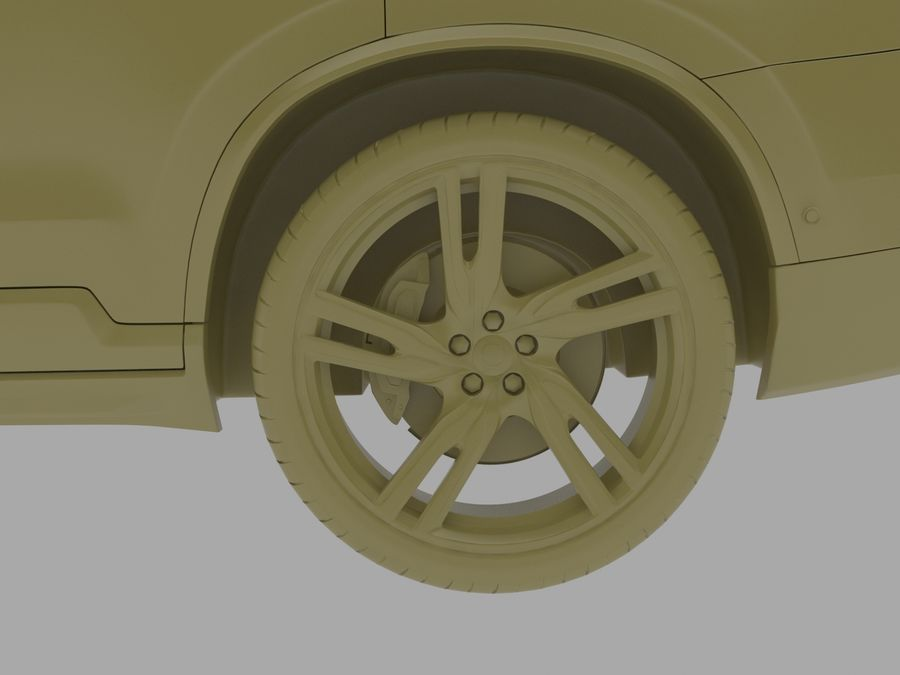 Volvo XC90 royalty-free 3d model - Preview no. 7