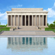 Lincoln Memorial, Washington, D.C., U.S. 3d model