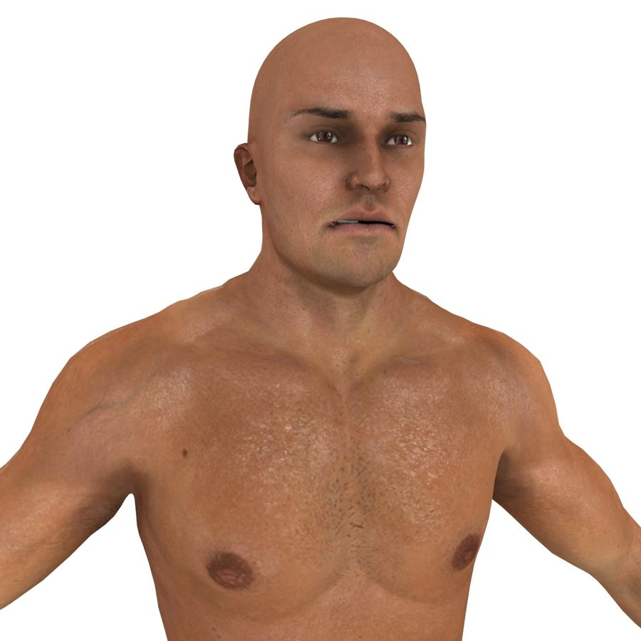 MMA Fighter N3 royalty-free 3d model - Preview no. 14