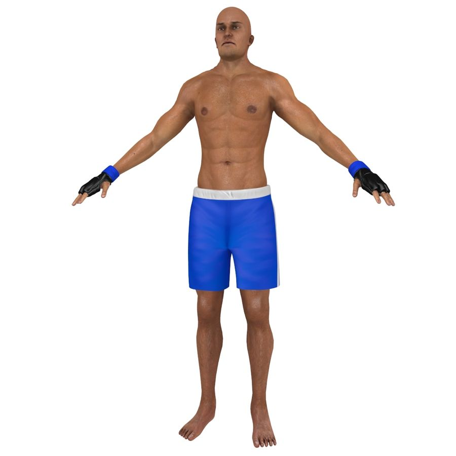 MMA Fighter N3 royalty-free 3d model - Preview no. 4