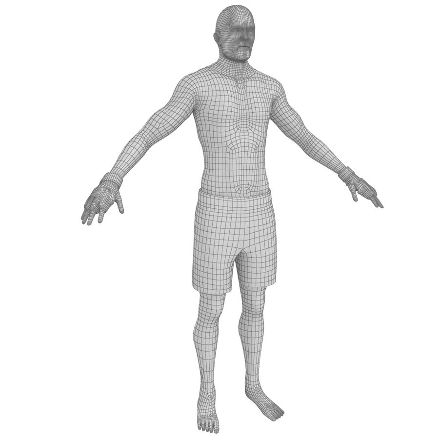MMA Fighter N3 royalty-free 3d model - Preview no. 25