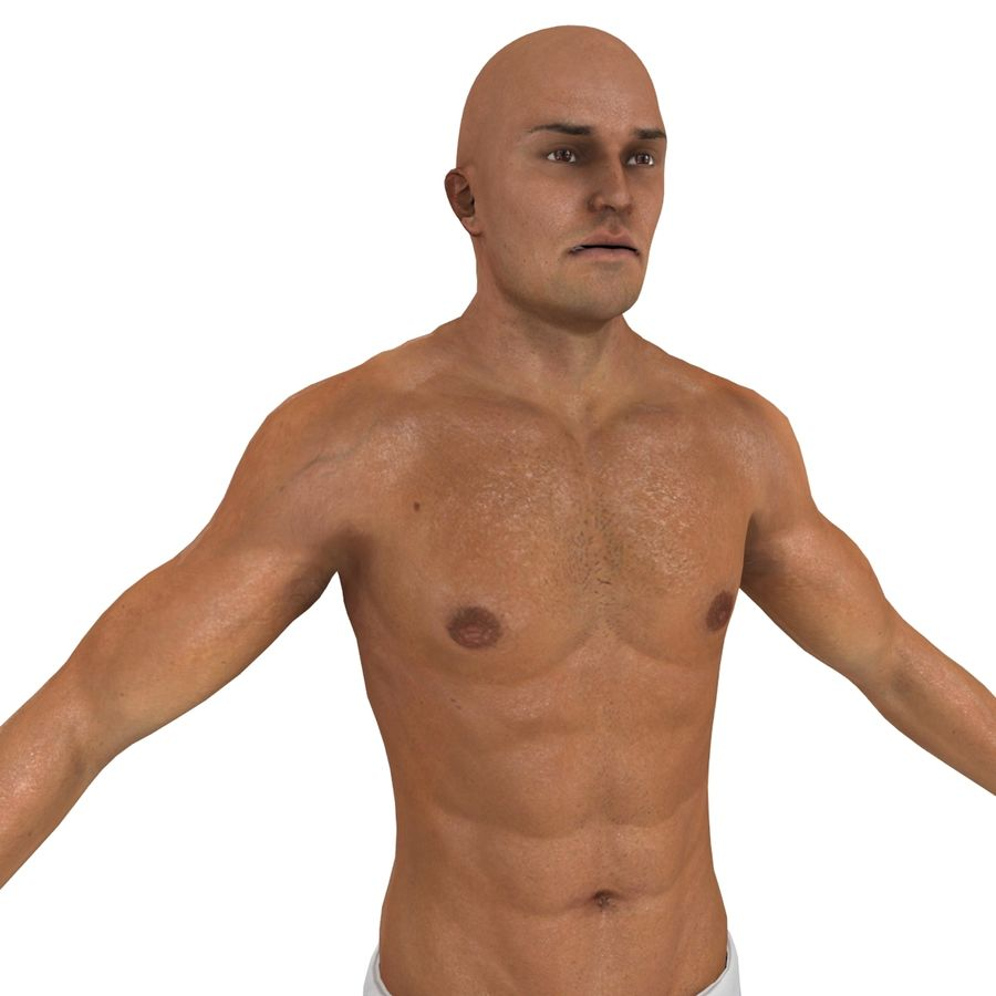 MMA Fighter N3 royalty-free 3d model - Preview no. 12