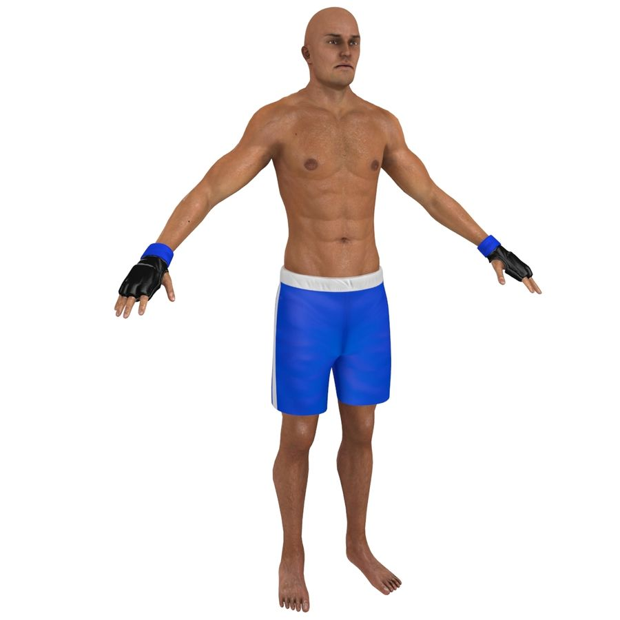 MMA Fighter N3 royalty-free 3d model - Preview no. 1