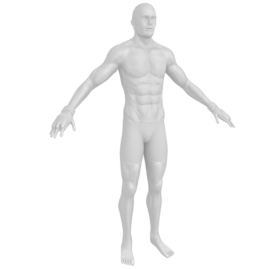 MMA Fighter N3 royalty-free 3d model - Preview no. 23