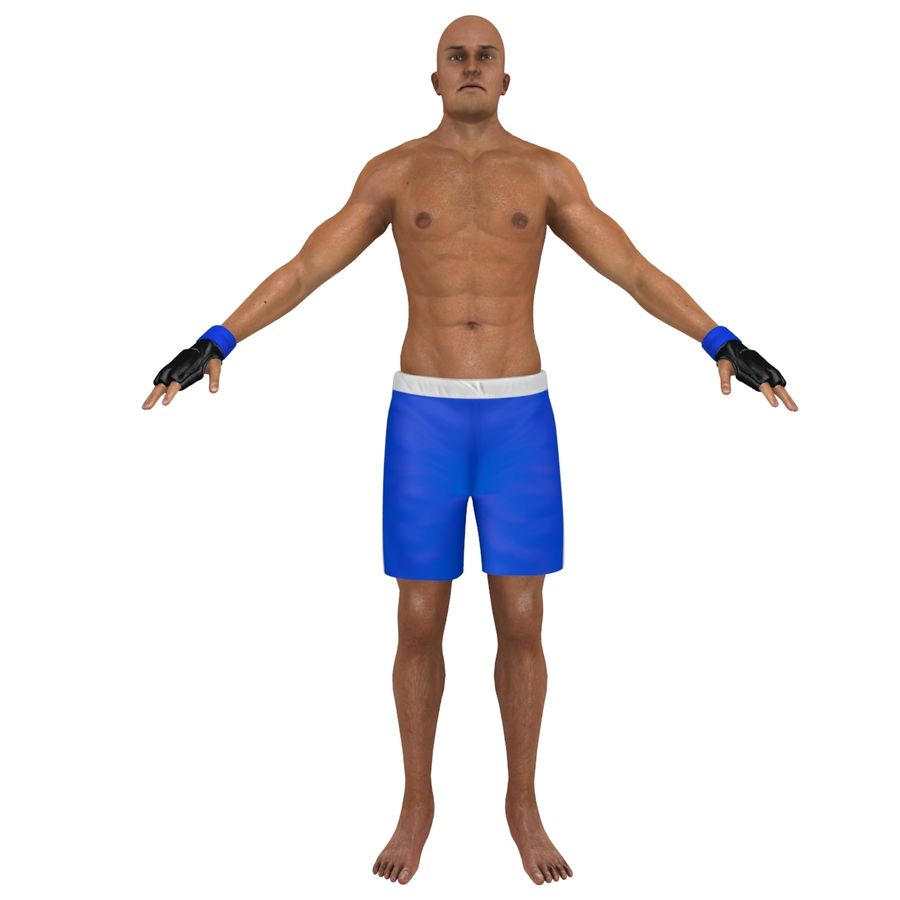 MMA Fighter N3 royalty-free 3d model - Preview no. 3