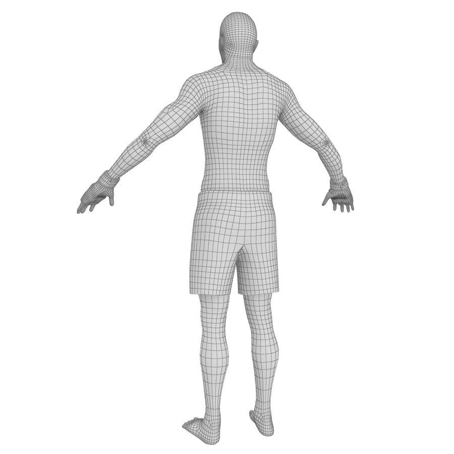 MMA Fighter N3 royalty-free 3d model - Preview no. 26