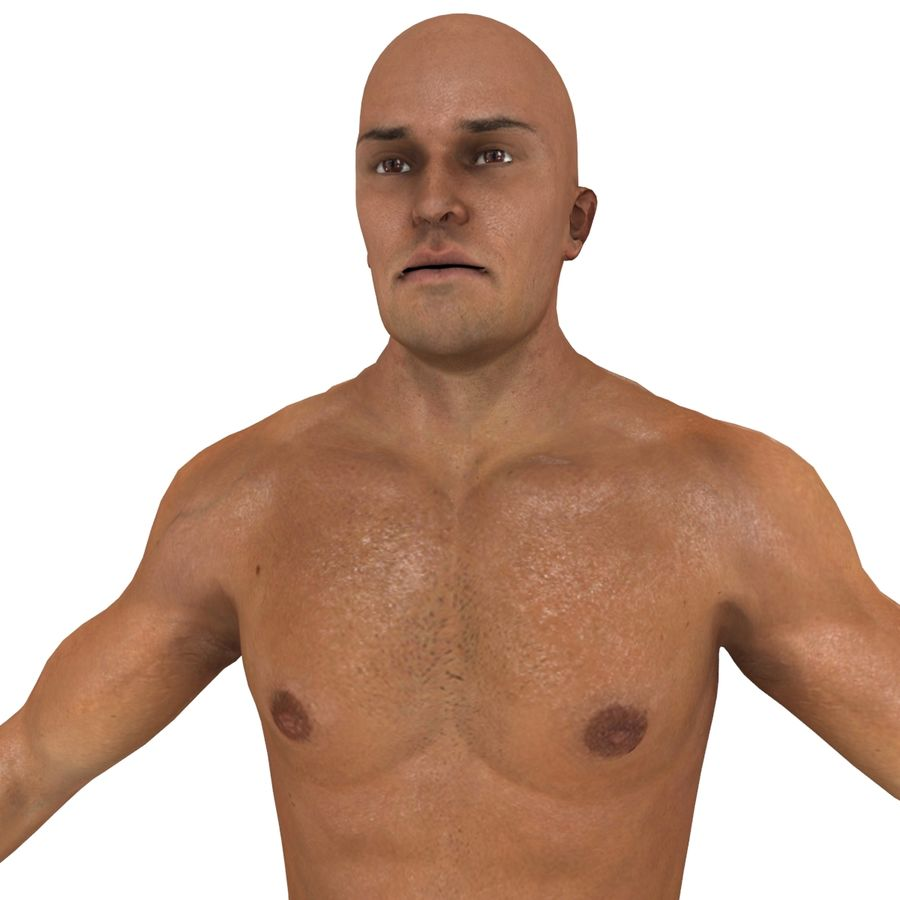 MMA Fighter N3 royalty-free 3d model - Preview no. 13