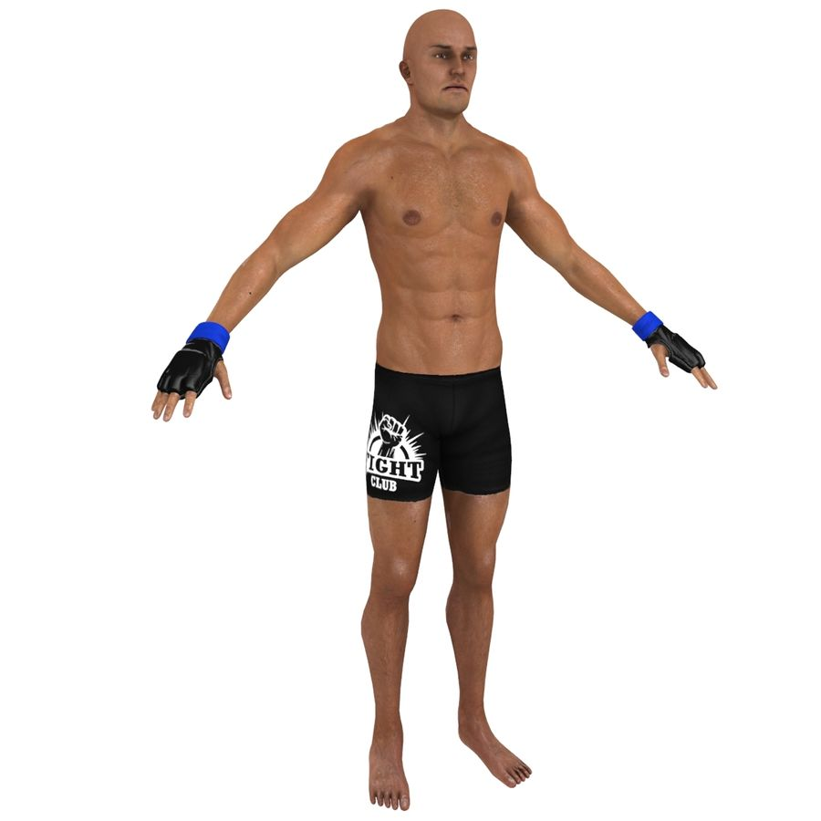 MMA Fighter N3 royalty-free 3d model - Preview no. 2