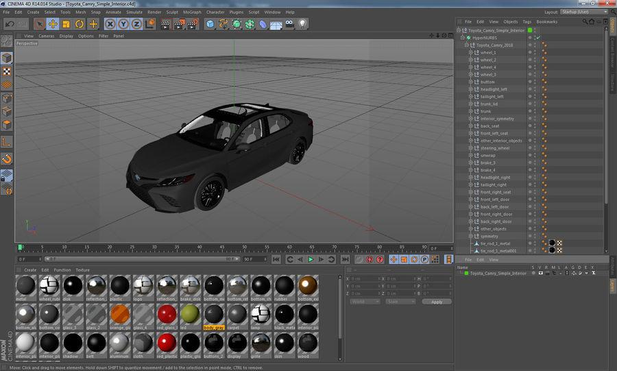 도요타 캠리 간단한 인테리어 royalty-free 3d model - Preview no. 32
