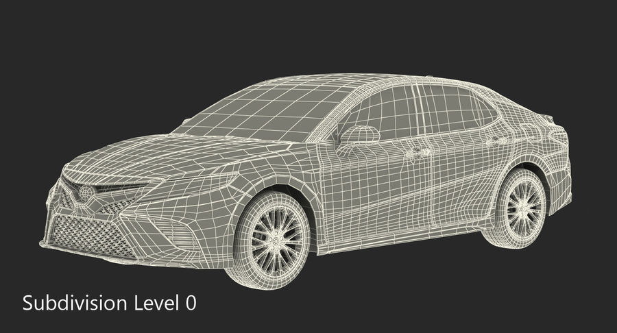 도요타 캠리 간단한 인테리어 royalty-free 3d model - Preview no. 26
