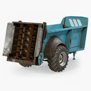 Manure Spreader Dirty Generic 3d model