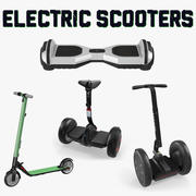 Elektrische Scooters Collectie 3d model