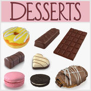 Desserts 3D Models Collection 3d model