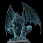 Statue de démon gargouille 3d model