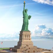 自由の女神、ニューヨーク、米国 3d model