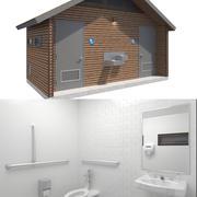 Bâtiment public-004 toilettes avec intérieur 3d model