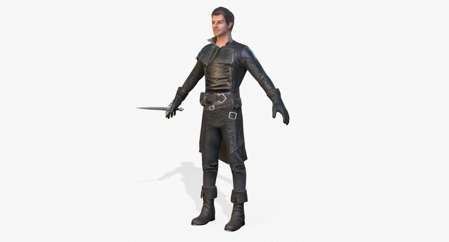 Rogue Hero Rigged Hero royalty-free 3d model - Preview no. 2