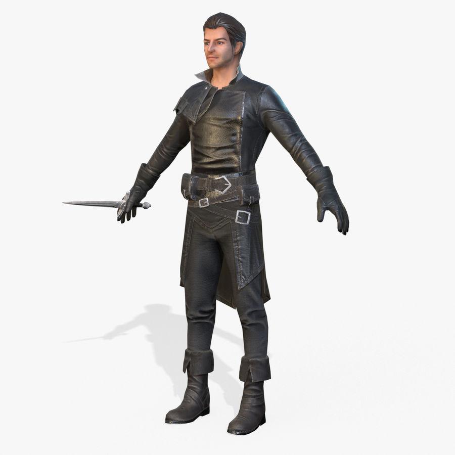 Rogue Hero Rigged Hero royalty-free 3d model - Preview no. 1