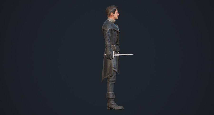 Rogue Hero Rigged Hero royalty-free 3d model - Preview no. 8