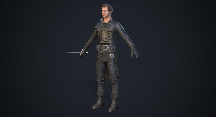 Rogue Hero Rigged Hero royalty-free 3d model - Preview no. 3
