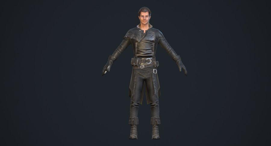 Rogue Hero Rigged Hero royalty-free 3d model - Preview no. 6