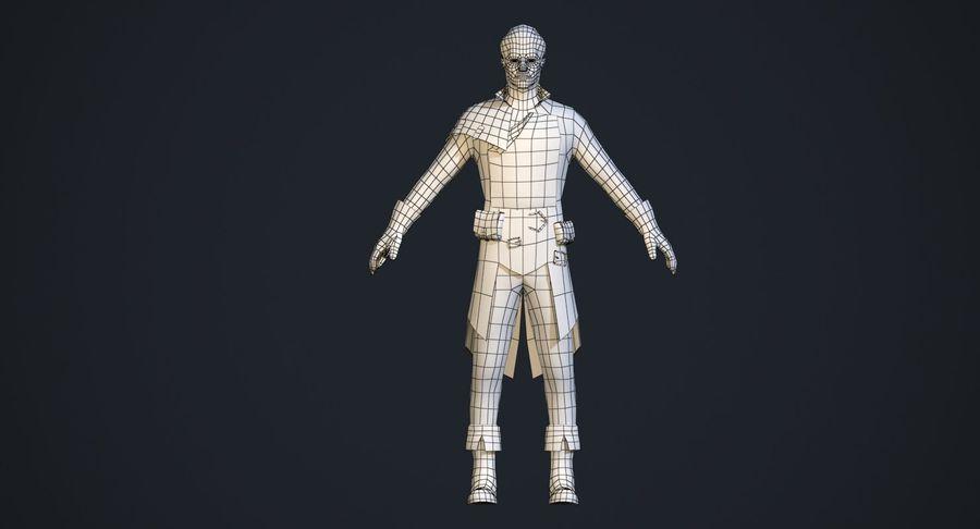 Rogue Hero Rigged Hero royalty-free 3d model - Preview no. 7