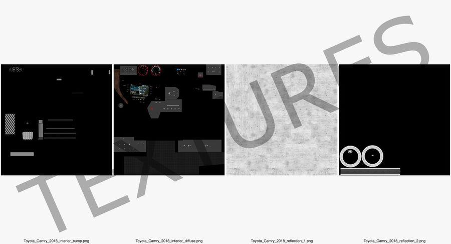 토요타 캠리 2018 royalty-free 3d model - Preview no. 28