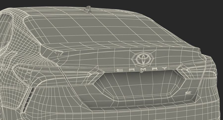 토요타 캠리 2018 royalty-free 3d model - Preview no. 37
