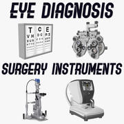 Eye Diagnosis and Surgery Instruments Collection 3d model