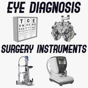 Collection d'instruments de diagnostic et de chirurgie oculaire 3d model