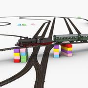 Costruttore ferroviario giocattolo 3d model