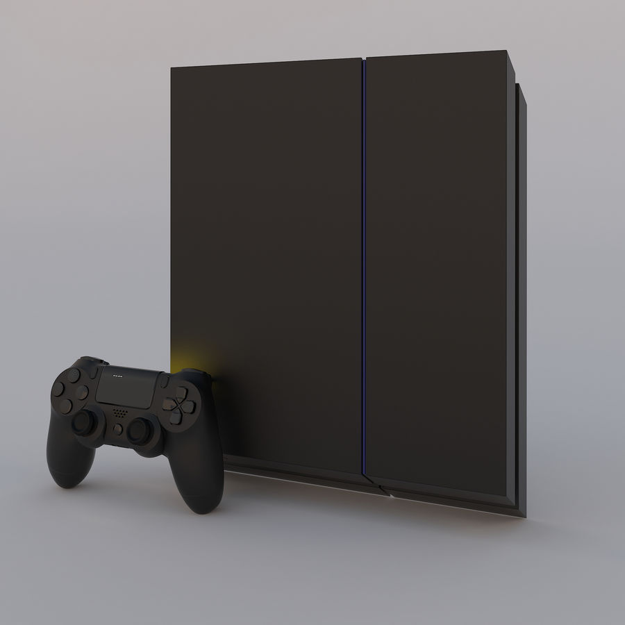Play Station 4 royalty-free 3d model - Preview no. 5