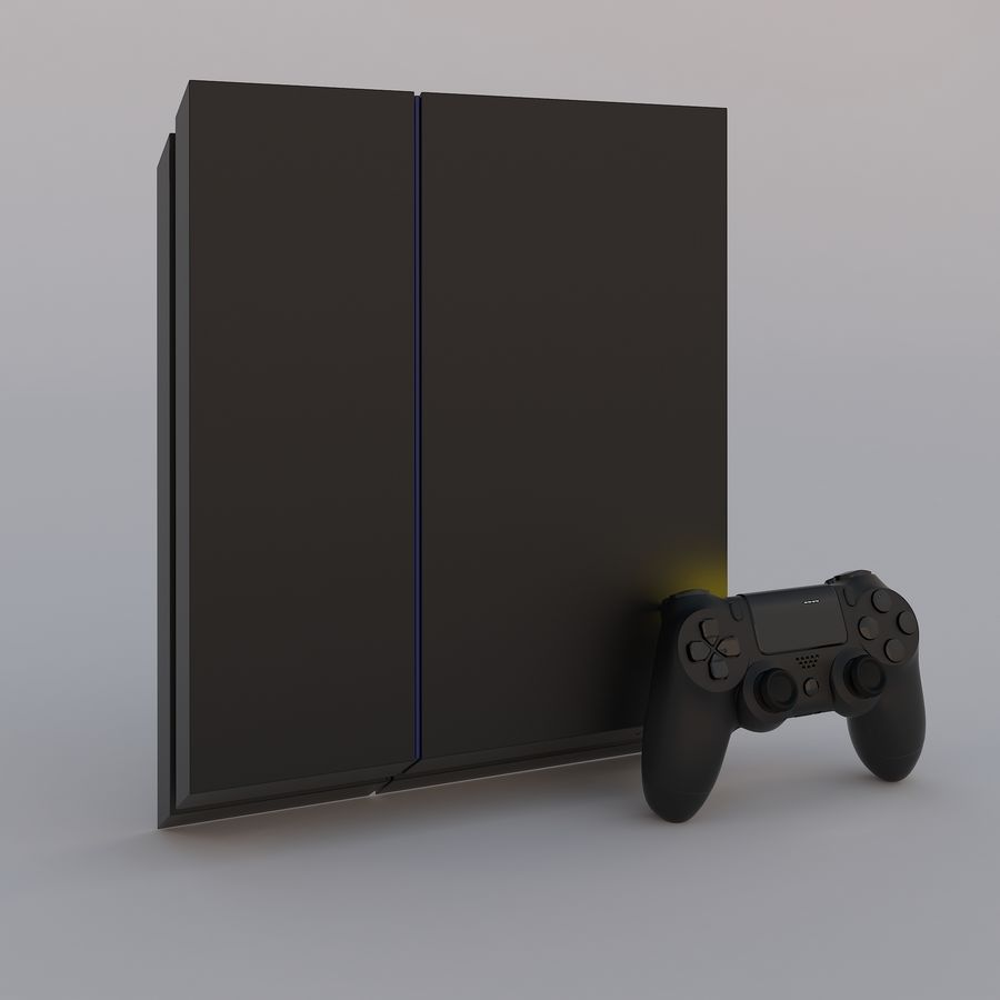 Play Station 4 royalty-free 3d model - Preview no. 3