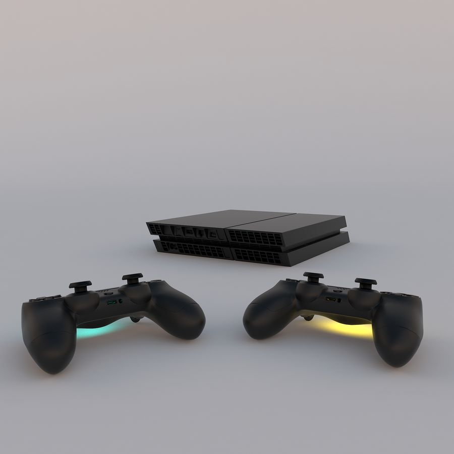 Play Station 4 royalty-free 3d model - Preview no. 2