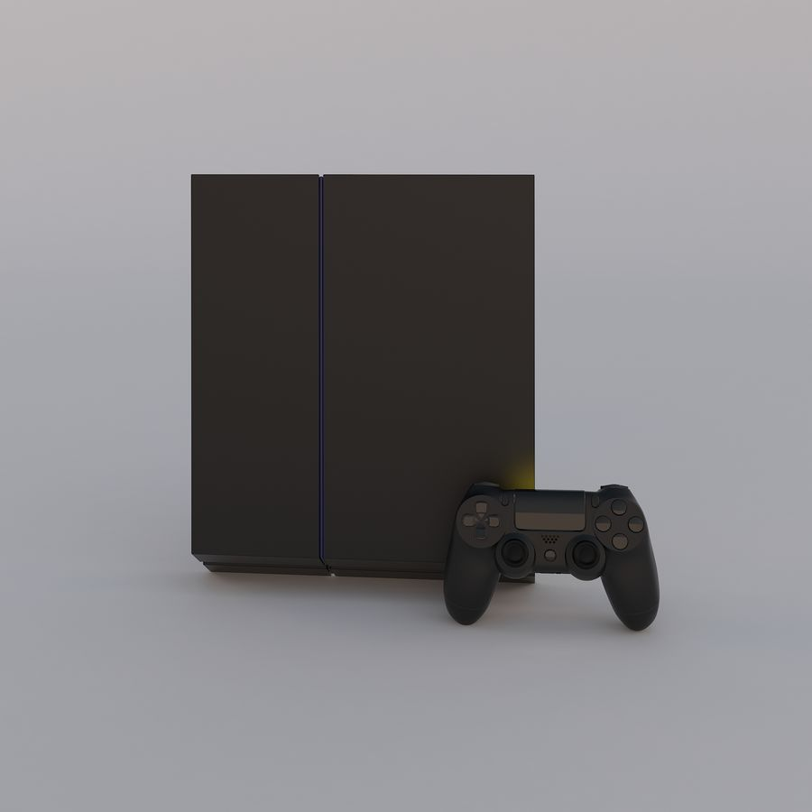 Play Station 4 royalty-free 3d model - Preview no. 4