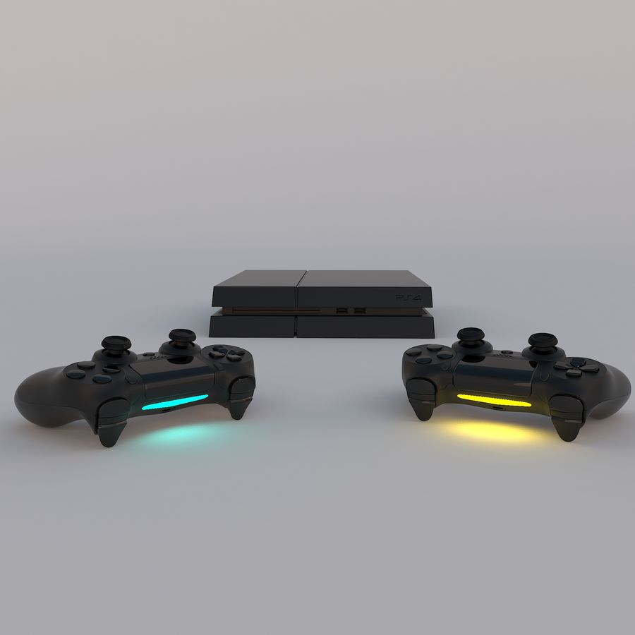 Play Station 4 royalty-free 3d model - Preview no. 1