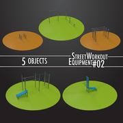 Street Workout Equipment #02 3d model