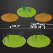 Street Workout Equipment #04 3d model