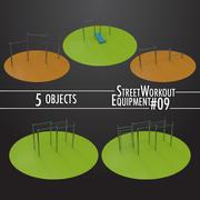 Street Workout Equipment #09 3d model