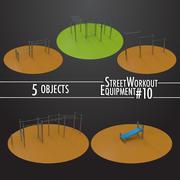 Street Workout Equipment #10 3d model