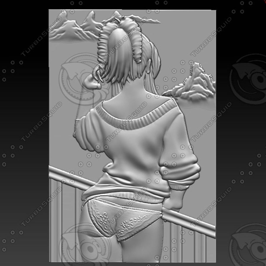 beautiful girl royalty-free 3d model - Preview no. 1